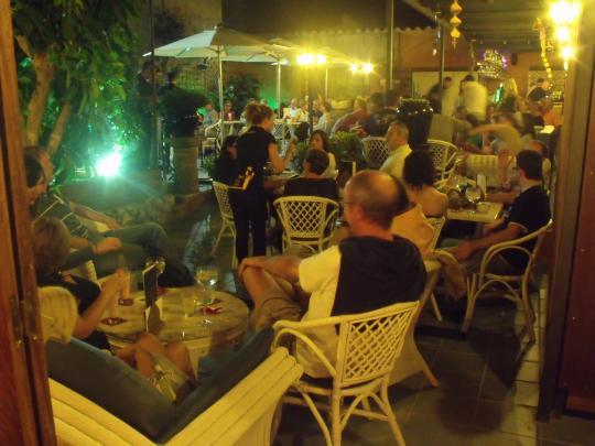 El Pati Blau del Restaurant Can Trona