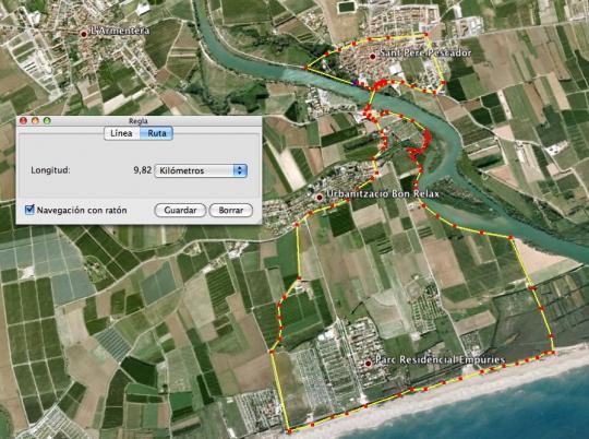 Trajecte en BTT - Triatló Popular de Sant Pere Pescador
