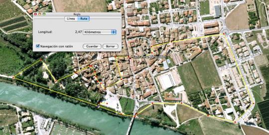 Trajecte de la cursa a peu  - Triatló Popular de Sant Pere Pescador