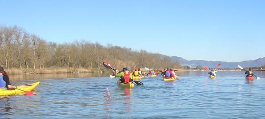 Kayak al Riu Fluvià